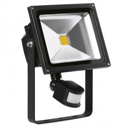 Aurora Lighting Helius PIR 30W Cool White Adjustable LED Floodlight
