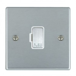Hamilton Hartland Satin Chrome 1 Gang 13A Fuse Only with White Insert