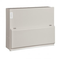 Hager Design 10 Metal 6 Way Consumer Unit - 100A Main Switch (Amendment 3)