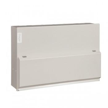 Hager Design 10 Metal 10 Way Consumer Unit - 100A Main Switch (Amendment 3)