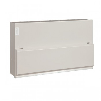 Hager Design 10 Metal 14 Way Consumer Unit - 100A Main Switch (Amendment 3)