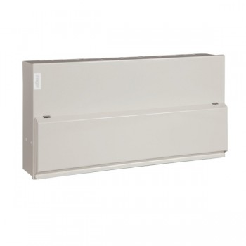 Hager Design 10 Metal 20 Way Consumer Unit - 100A Main Switch (Amendment 3)