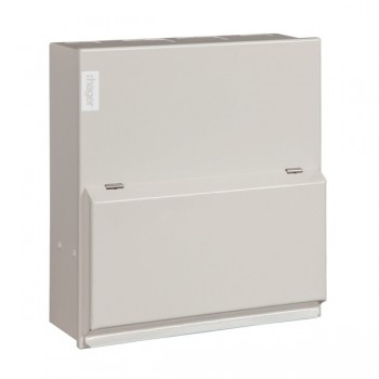 Hager Design 10 Metal 6 Way Consumer Unit - 100A 30mA RCD (Amendment 3)