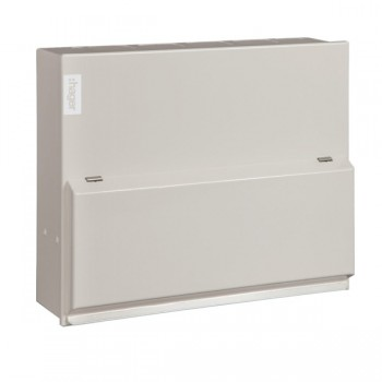 Hager Design 10 Metal 10 Way Consumer Unit - 100A 30mA RCD (Amendment 3)