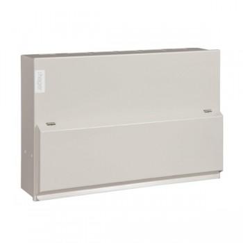 Hager Design 10 Metal 12 Way Split Load Configurable Consumer Unit - 100A 100mA Time Delay RCD + 63A 30mA RCD (Amendment 3)