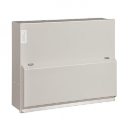 Hager Design 10 Metal 6 Way Split Load (3+3) Consumer Unit - 100A Main Switch + 2x63A 30mA RCD (Amendment 3)