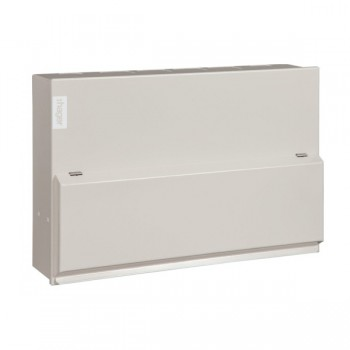 Hager Design 10 Metal 10 Way Split Load (5+5) Consumer Unit - 100A Main Switch + 2x63A 30mA RCD (Amendment 3)