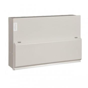 Hager Design 10 Metal 10 Way Split Load Configurable Consumer Unit - 100A Main Switch + 2x63A 30mA RCD (Amendment 3)