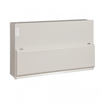 Hager Design 10 Metal 12 Way Split Load (6+6) Consumer Unit - 100A Main Switch + 2x63A 30mA RCD (Amendment 3)