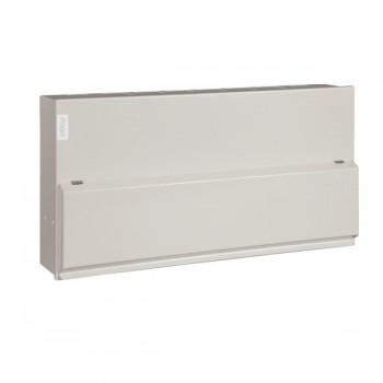 Hager Design 10 Metal 18 Way Configurable Twin Tariff Consumer Unit - 2x100A Main Switch (Amendment 3)