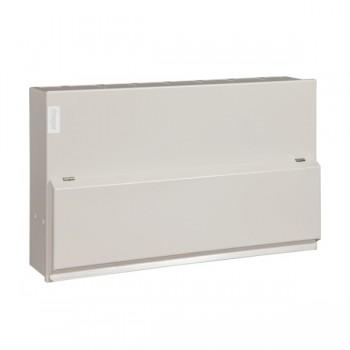 Hager Design 10 Metal 12 Way Multi Tariff (6+5+1) Consumer Unit - 2x100A Main Switch + 63A Main Switch (Amendment 3)