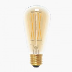 Segula Vintage Line 6W 2000K Dimmable E27 Golden Glass Rustica LED Bulb with Long Filament