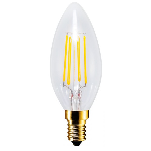Segula Vintage Line 4W 2200K Dimmable E14 Clear Candle LED Bulb at ...