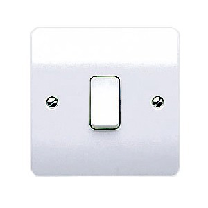 MK Electric Logic Plus™ White 10A 1 Gang Switch