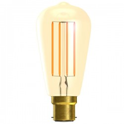 Bell Lighting Vintage 4W Warm White Non-Dimmable B22 Amber LED Squirrel Cage Bulb
