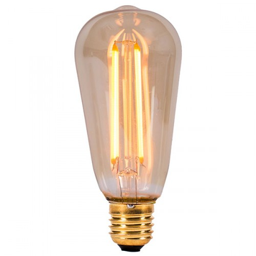 Bell Lighting Vintage 4w Warm White Non Dimmable E27 Amber Led Squirrel Cage Bulb At Uk