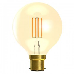 Bell Lighting Vintage 4W Warm White Non-Dimmable B22 Amber LED Globe Lamp