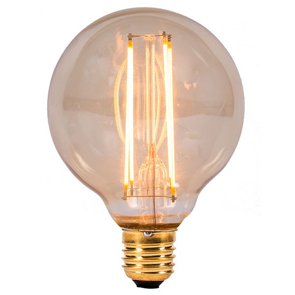 bell lighting vintage 4w warm white non dimmable e27 amber led globe lamp at uk electrical supplies. Black Bedroom Furniture Sets. Home Design Ideas