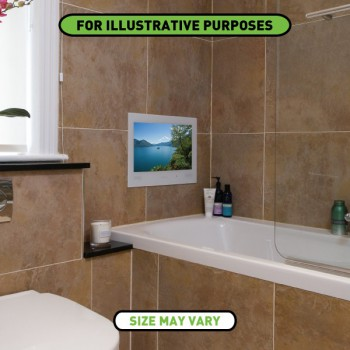 ProofVision 19 Inch Waterproof Bathroom TV with White Finish