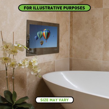 ProofVision 19 Inch Waterproof Bathroom TV with Mirror Finish