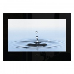 ProofVision Premium 24 Inch Waterproof Bathroom TV with Black Finish