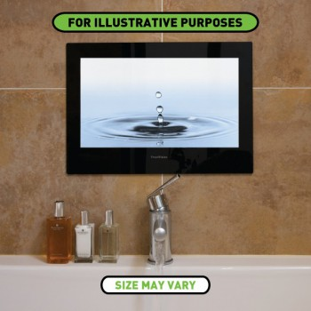 ProofVision 24 Inch Waterproof Bathroom TV with Black Finish