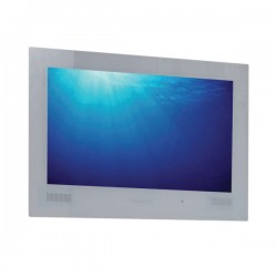 ProofVision Premium 24 Inch Waterproof Bathroom TV with White Finish