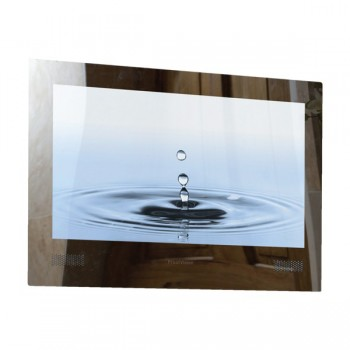 ProofVision Premium 24 Inch Waterproof Bathroom TV with Mirror Finish