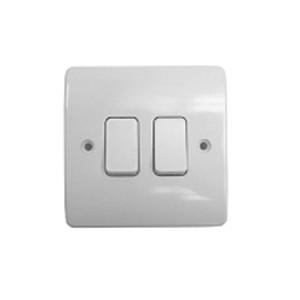 MK Electric Logic Plus™ White 10A 2 Gang Switch