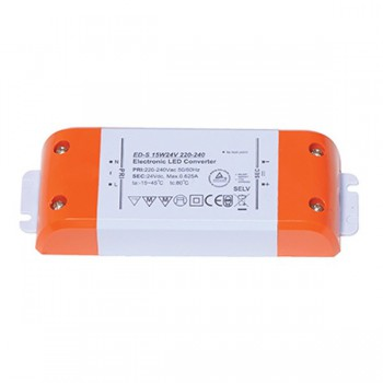 Ansell Constant Voltage Non-Dimmable 15W 24V LED Driver