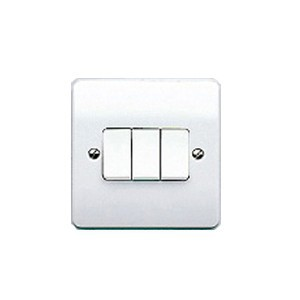 MK Electric Logic Plus™ White 10A 3 Gang Switch