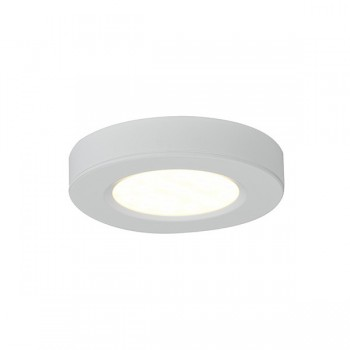 Ansell 3W Warm White LED Cabinet Light with White Finish