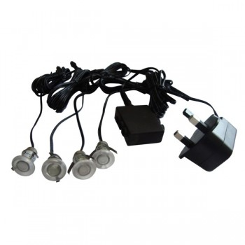 Knightsbridge 0.1W Blue LED Decking Light Kit