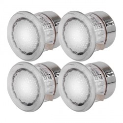 Knightsbridge 0.5W White LED Decking Light Kit