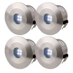 Knightsbridge 0.5W Blue LED Stainless Steel Decking Light Kit