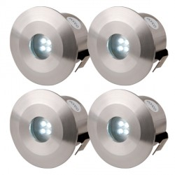 Knightsbridge 0.5W White LED Stainless Steel Decking Light Kit