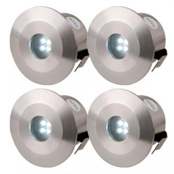Knightsbridge 0.5W White LED Stainless Steel Decking Light Kit