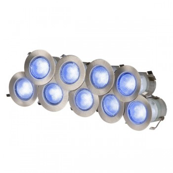 Knightsbridge 0.2W Blue LED Stainless Steel Decking Light Kit