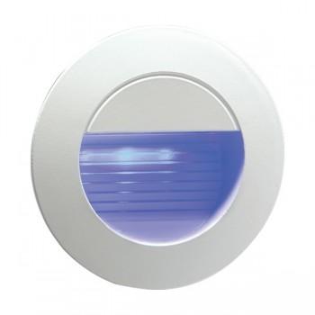 Knightsbridge 1.2W Blue LED Miniature Round White Guide Light