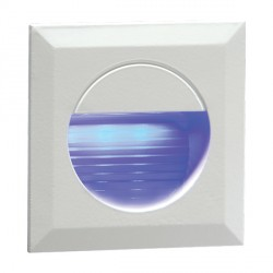 Knightsbridge 1.2W Blue LED Miniature Square White Guide Light