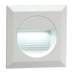 Knightsbridge 1.2W LED Miniature Square White Guide Light