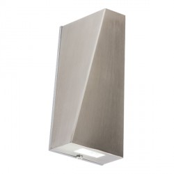 Knightsbridge 2x3W Angular Stainless Steel Up/Down LED Wall Light