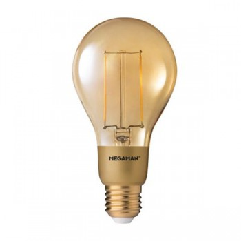 Megaman Filament Gold 3W 2200K Dimmable E27 LED A75 Bulb