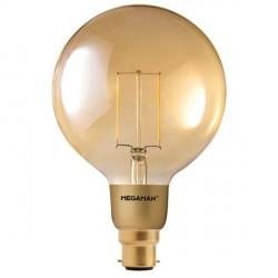 Megaman Filament Gold 3W 2200K Dimmable B22 LED Globe