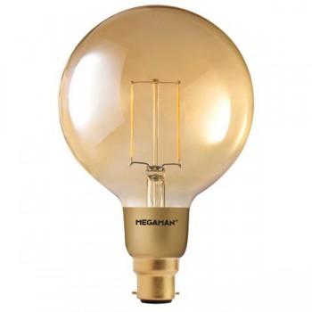 Megaman Filament Gold 3W 2200K Dimmable B22 LED Globe