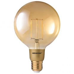 Megaman Filament Gold 3W 2200K Dimmable E27 LED Globe
