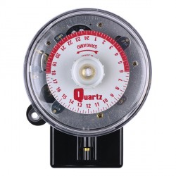 Sangamo Round Pattern Standard 3-pin Time Switch with Battery Reserve, Day Omit On, and 2 Operations