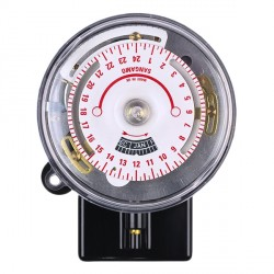 Sangamo Round Pattern Solar 4-pin Time Switch with Early Off, Early On, and 2 Operations - Zone 1