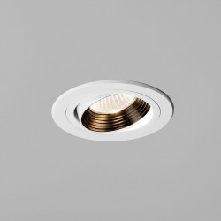 Astro Aprilia 6.1W Round White Fire Rated Adjustable LED Downlight - 2700K