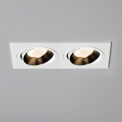Astro Aprilia 2x7W Twin White Adjustable LED Downlight - 2700K